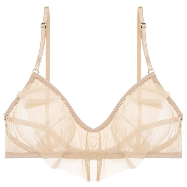 f3d18456f50a3 Only Hearts Whisper Ruffle Bralette in Nudie