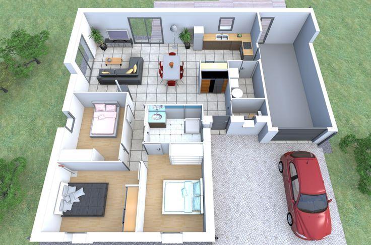 Plan De Maison 3d Tunisie Plan Maison 3d Maison 3d