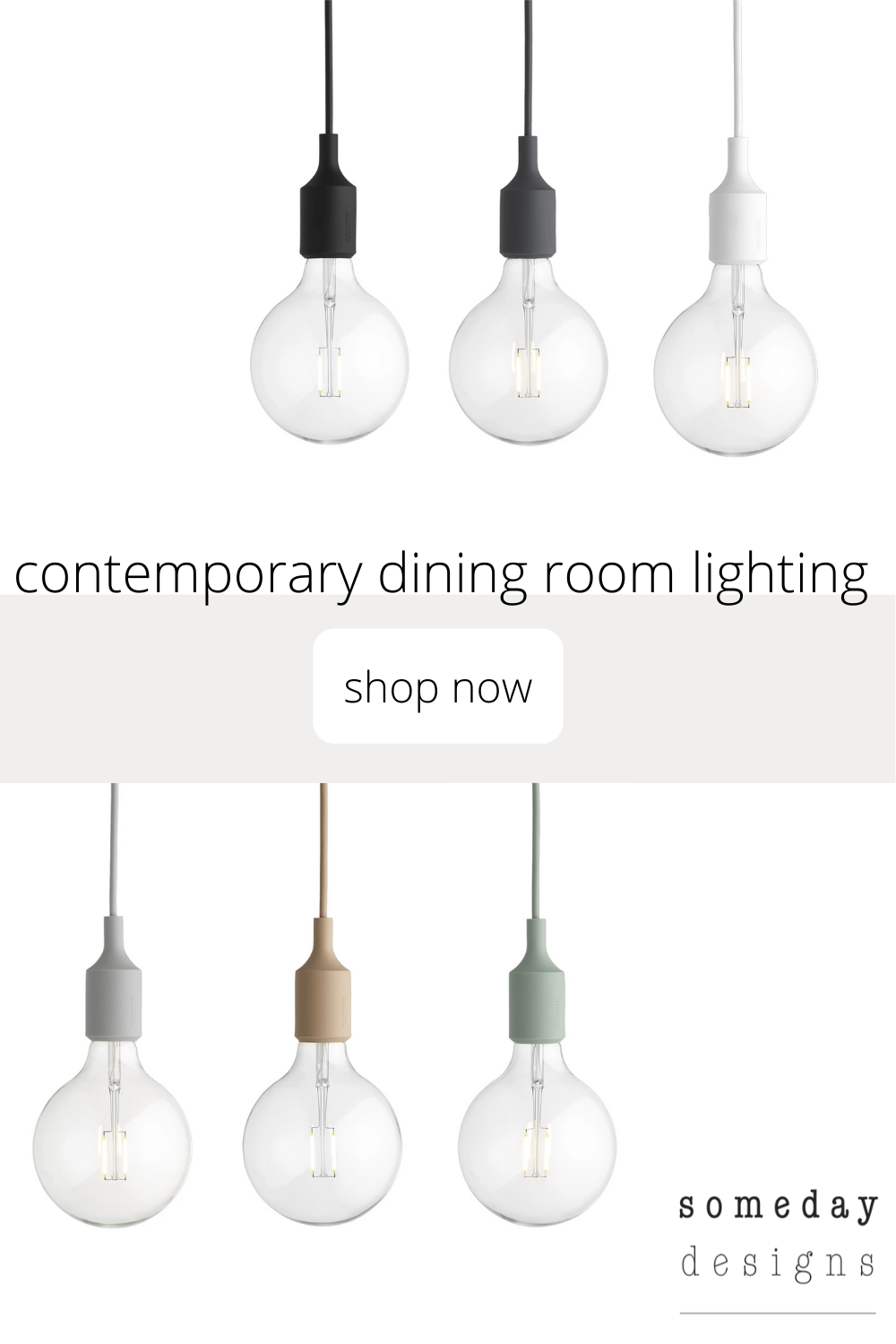 Contemporary Dining Room Lighting In 2020 Esszimmer Beleuchtung Anhanger Lampen Muuto E27
