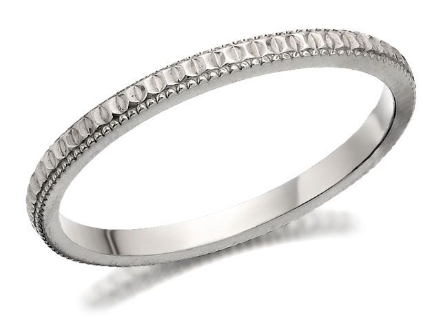 Great ct White Gold Diamond Cut Wedding Ring mm