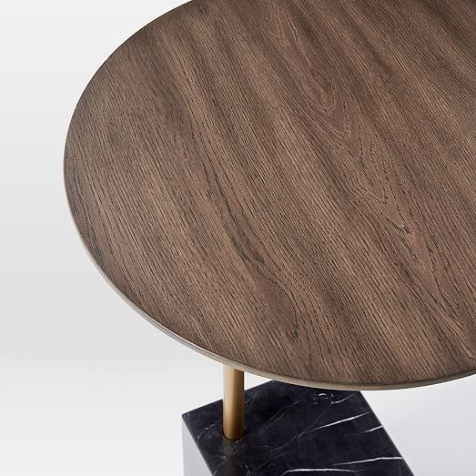 Cube C Side Table Umber Black Marble West Elm Cube Side Table Side Table Black Marble
