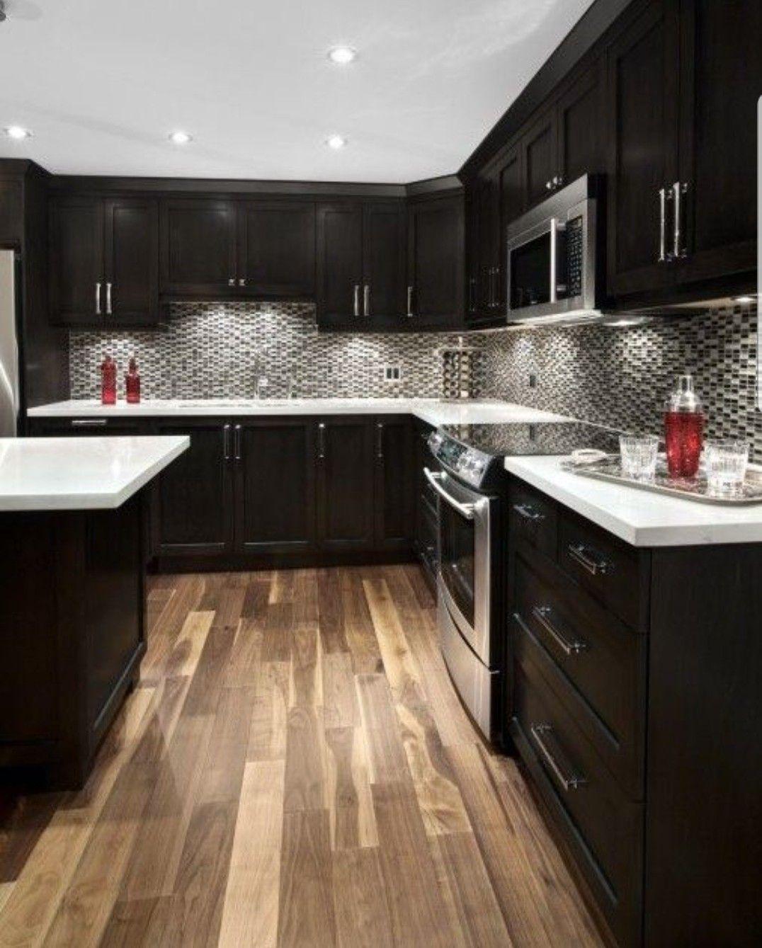 Pin By Jessica Benn On Kitchen Kitchen Design Espresso Kitchen Cabinets Kitchen Colour Schemes