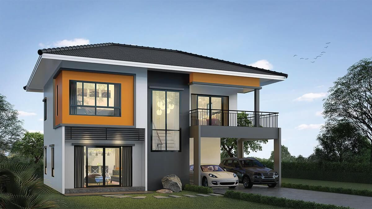 House Plans Idea 10x9m With 3 Bedrooms Sam House Plans House Plans House Home Design Plan