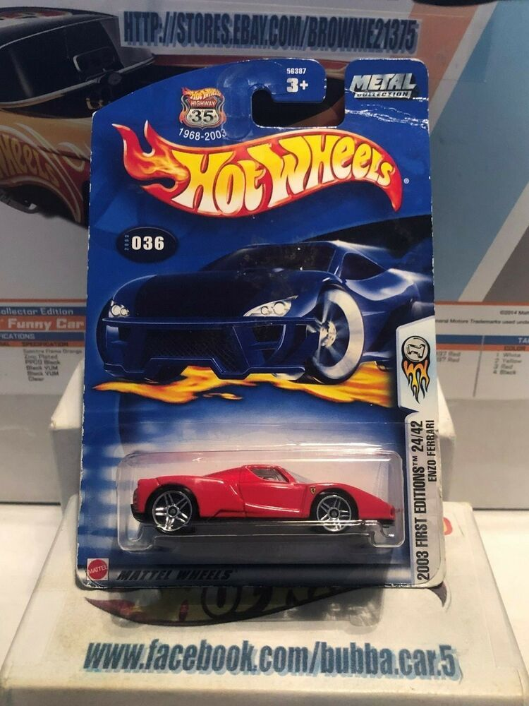 Hot Wheels Enzo Ferrari 2003 First Editions 24 42 Red