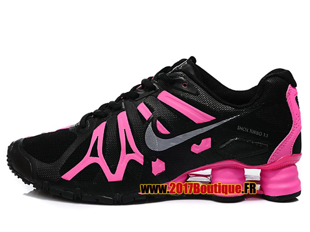 wholesale dealer b1079 85c37 ... Nike Shox Turbo 13 Womens Black Pink Shoes are cheap sale online.