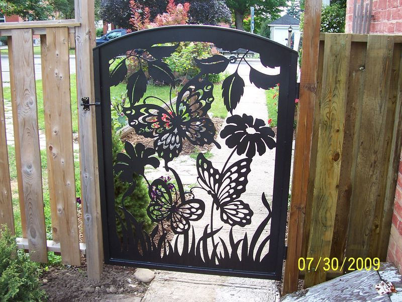 Butterfly Design Gates As An Artistic Medium Metal Has