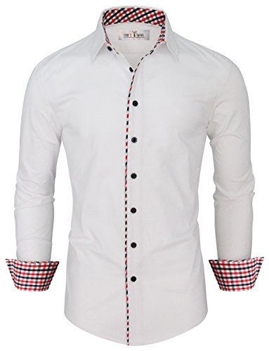 Tom's Ware Mens Fashion Casual Inner Plaid Long Sleeve Bu... http ...