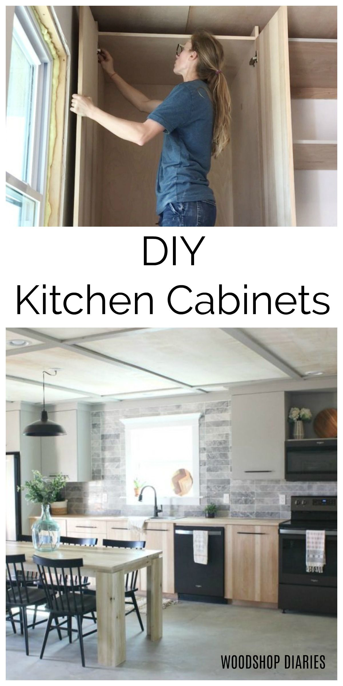 Diy Kitchen Cabinets Made From Only Plywood In 2020 Building Kitchen Cabinets Simple Kitchen Cabinets Diy Kitchen Cabinets