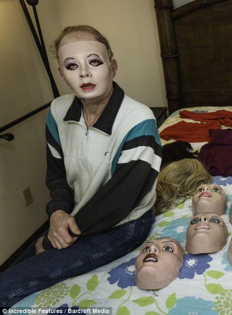 Men who like rubber dolls dress up