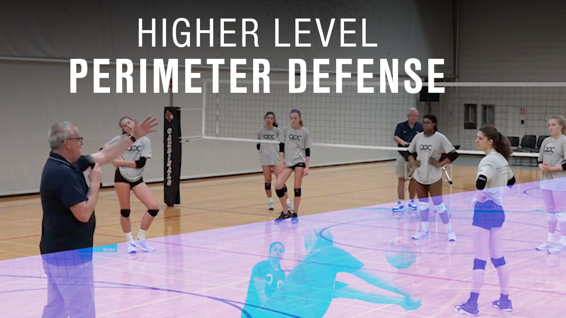 Higher Level Perimeter Defense Coaching Volleyball Volleyball Volleyball Drills