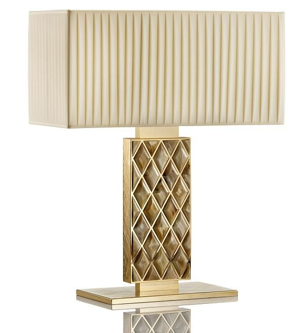 Limited edition italian designer horn brass gilded lamp click image for full screen view