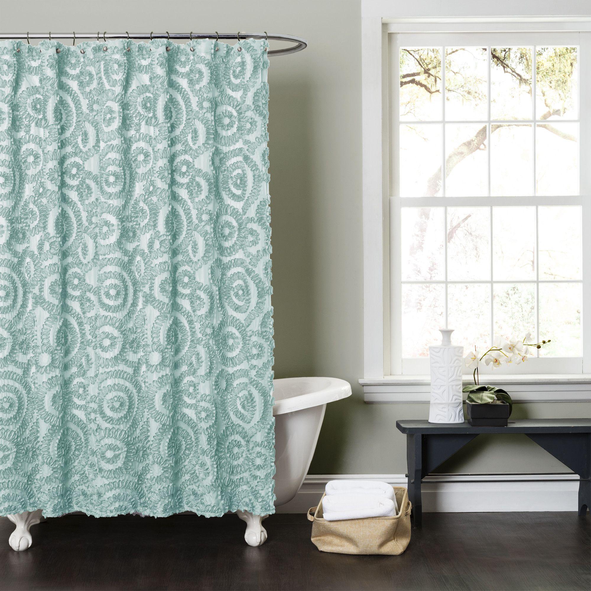 Lush Decor Stella Shower Curtain Reviews Wayfair Fabric