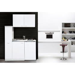 Photo of Respekta mini cucina Mk130woss (130 cm, con piano di cottura doppio, bianco) RespektaRespekta