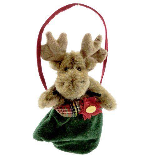 Boyds Bears Tartenbeary Plush Ornament - Mo Moose Christmas Moose - moose christmas decorations