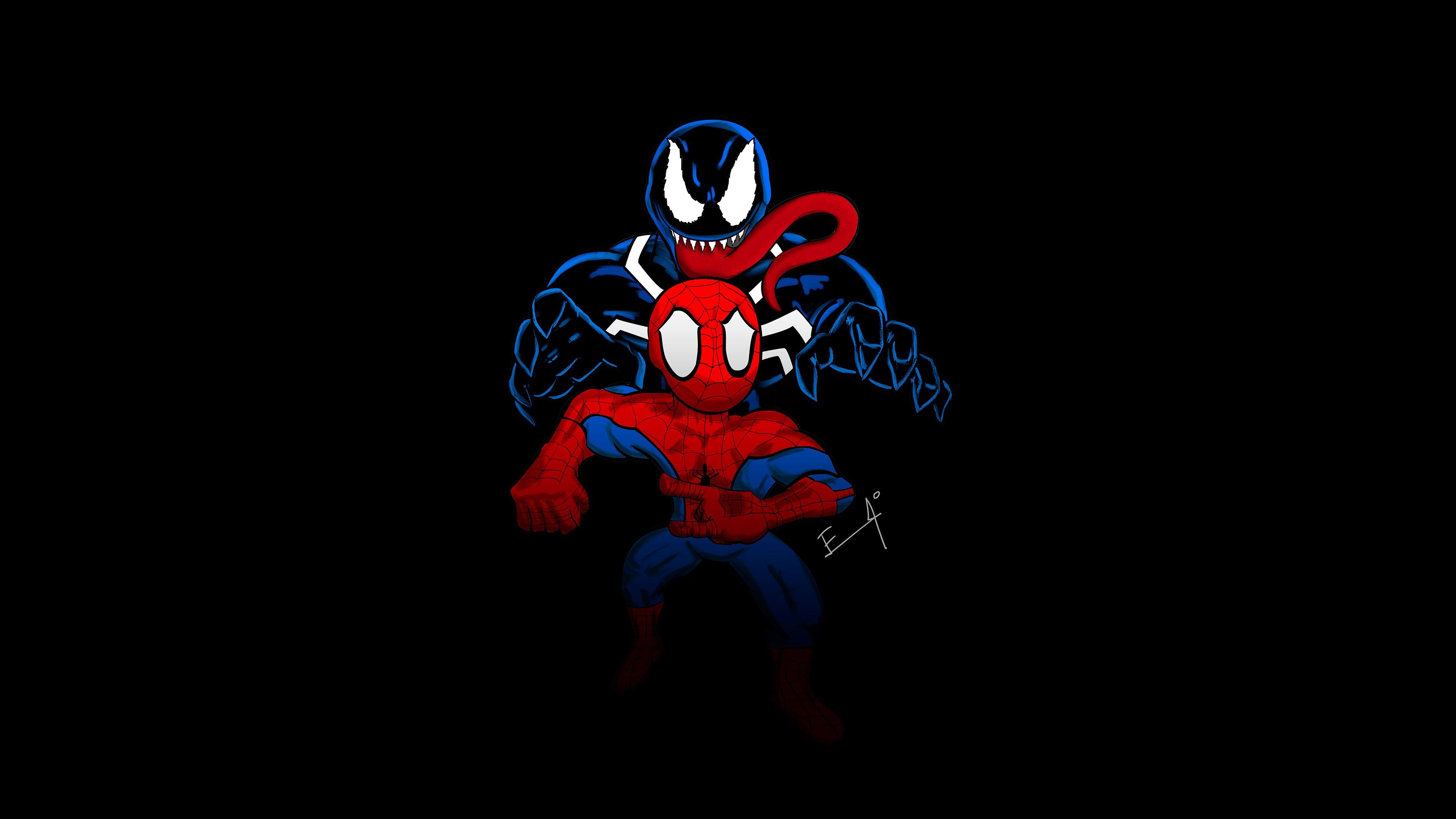 Little Spider Man And Venom 4k Venom Wallpapers Superheroes Wallpapers Spiderman Wallpapers Hd Wallpapers Be Incredible Cartoon Cartoon Wallpaper Spiderman