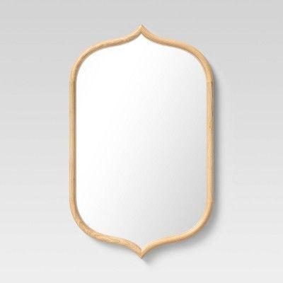22 X 36 Top And Bottom Peak Mirror Natural Opalhouse Mirror Wall French Country Wall Mirror Opalhouse 22 x 36 mirror