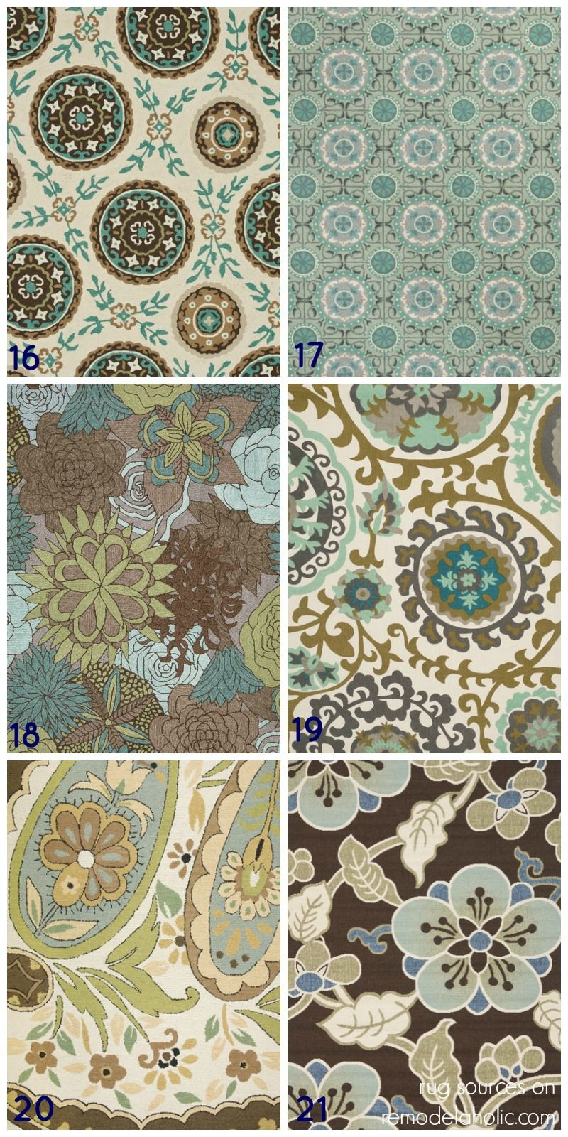 Top Picks For Green And Blue Area Rugs Patterned Paisley Striped Floral Great Picks Remodelaholic Rugs Blue Area Rugs Green Rug