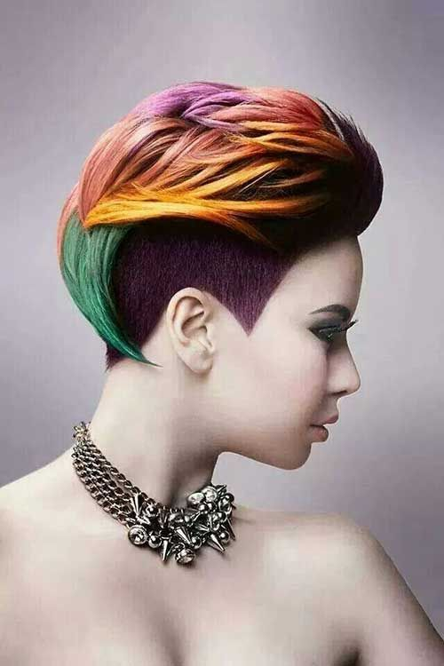 Short Hair Dye Ideas Style And Color For Woman   Hair   Pinterest ...