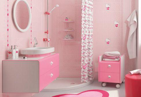 Accessori Bagno Hello Kitty.Hello Kitty Bathroom Tile Design Banheiros Modernos Decoracao Do Banheiro Banheiro Das Meninas