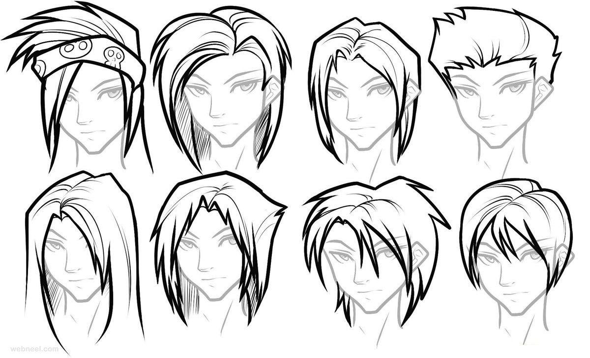 How To Draw Female Anime Hairstyles Anime Boy Hair Manga Hair Anime Character Drawing