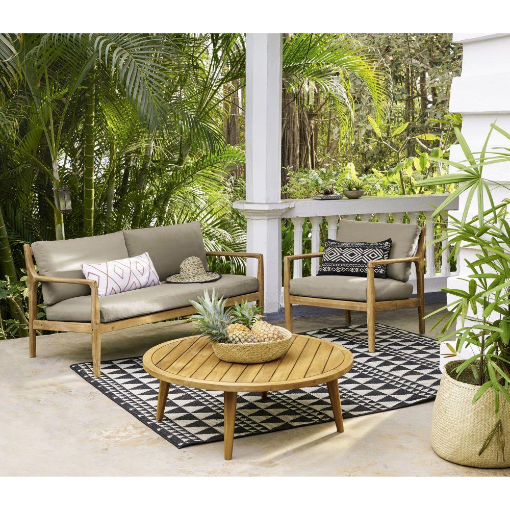 2-sitzer-sofa Aus Massivem Akazienholz In 2019 Veranda