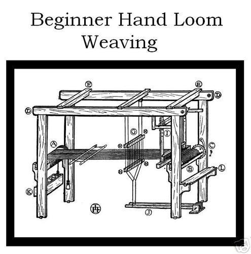 1900s HOW TO Build FLOOR LOOM PLANS & HAND WEAVING   Weaving looms ...