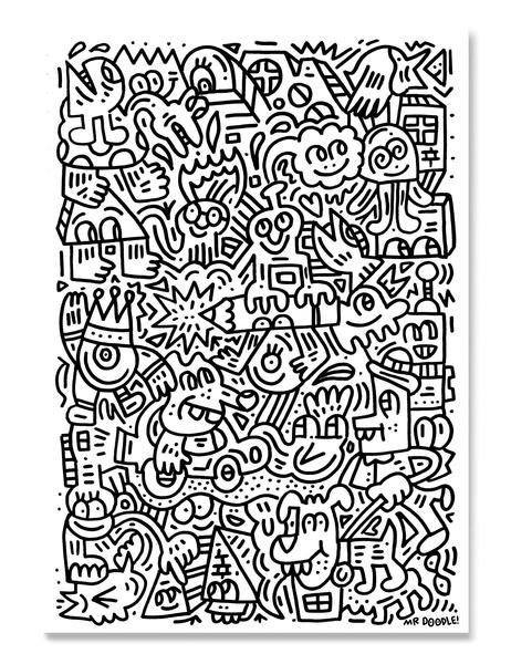 960+ Mr Doodle Coloring Book HD