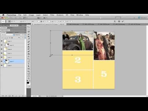 Using Storyboard Templates In Photoshop Scrapbooking  Video