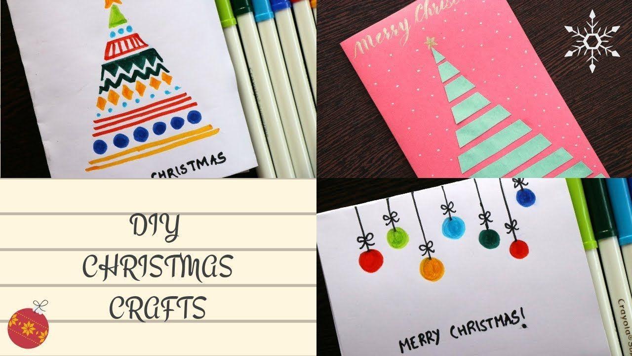 Diy Christmas Cards Easy 5 Minute Crafts Handmade Greeting
