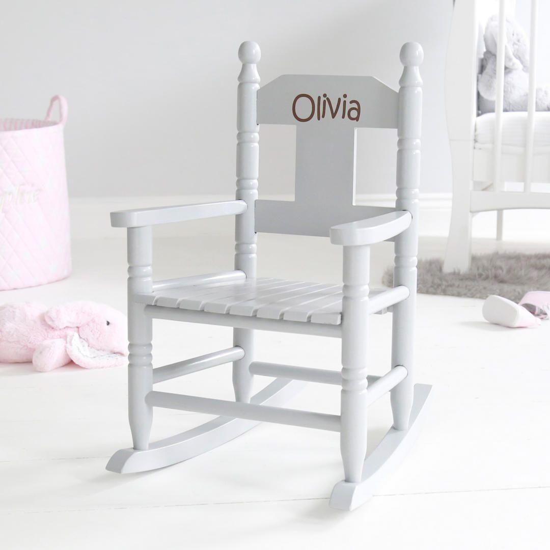 My st years personalised rocking chair grey in childrenus