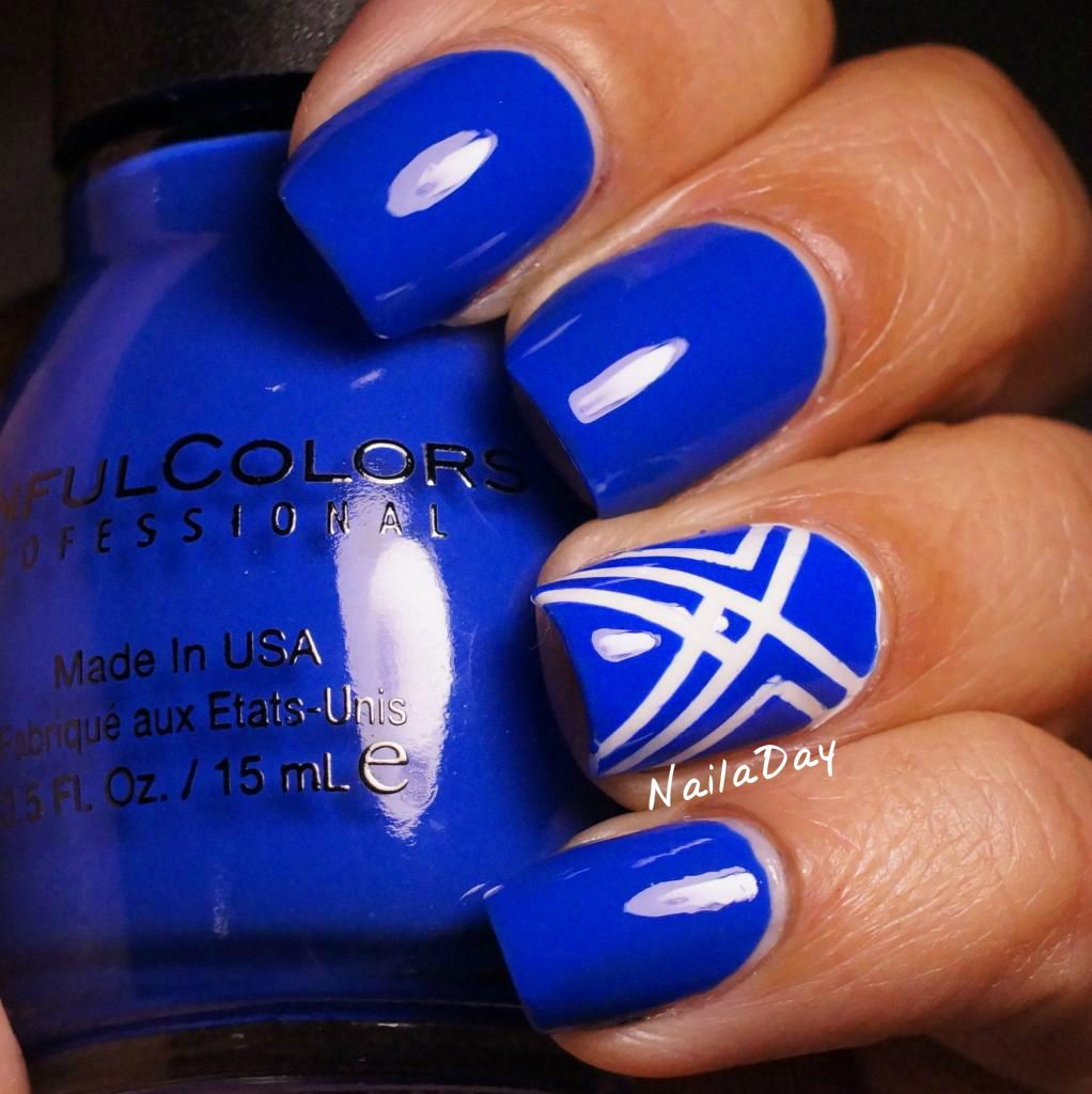 NailaDay: Sinful Colors Endless Blue with striping tape accents ...