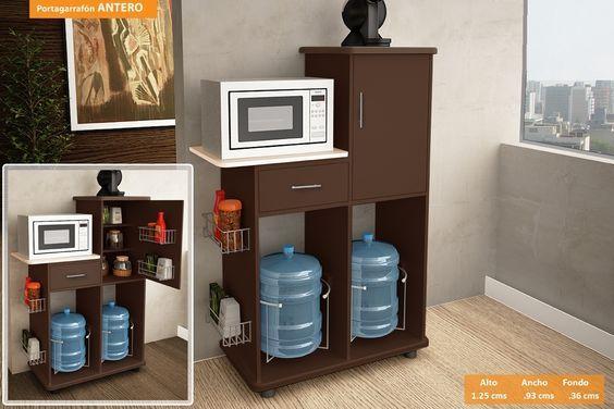 Mira estos 25 muebles de cocina para colocar tu microondas ...