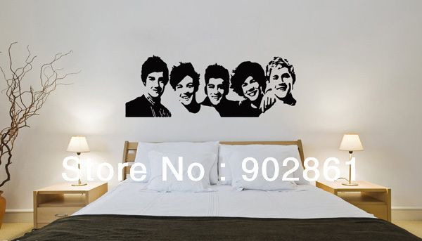 Funlife Pc One Direction D Vinyl Young Bedroom Art Mural Wall - One direction wall decals