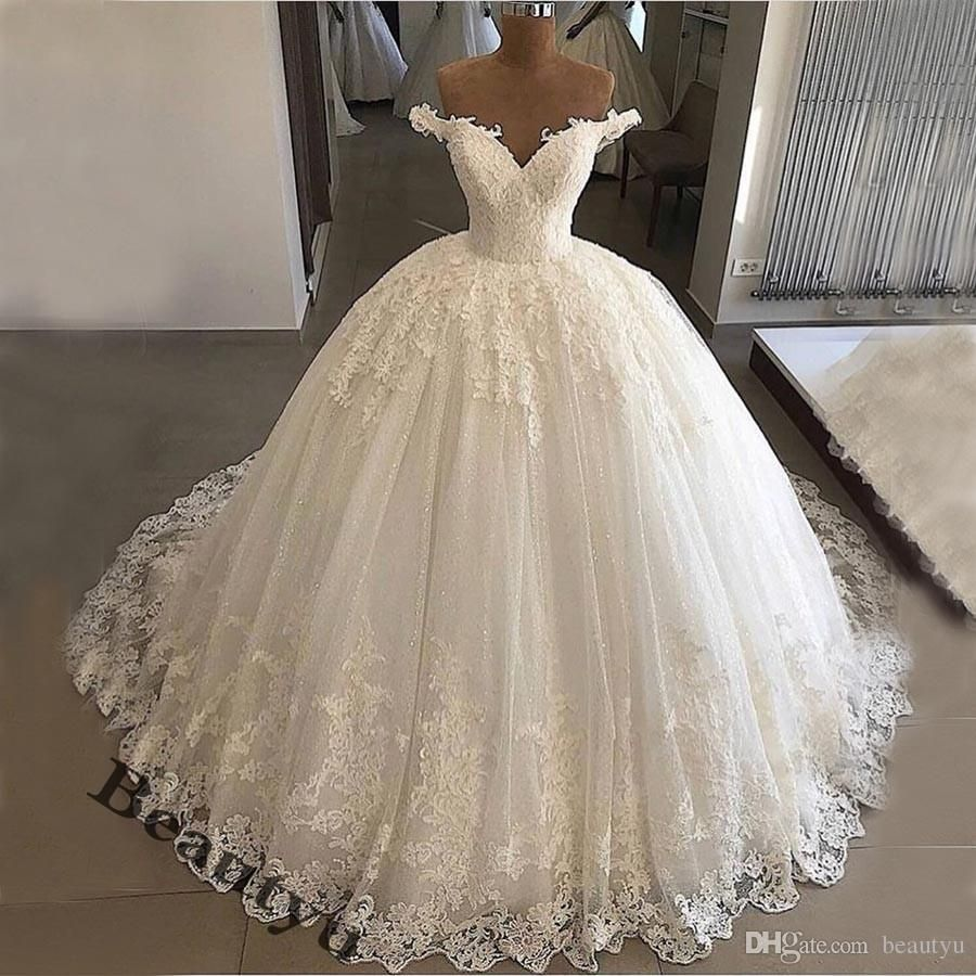 Lace Ball Gown Wedding Dresses Bridal Gowns White Off Shoulder Corset Luxury Plus Size Vintage R Puffy Wedding Dresses Ball Gown Wedding Dress White Ball Gowns