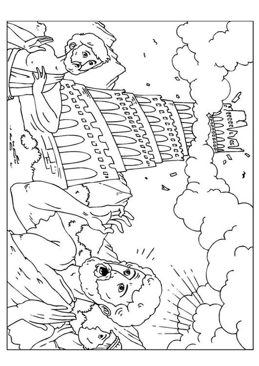 Coloring page tower of Babel img 25960. Images Tower