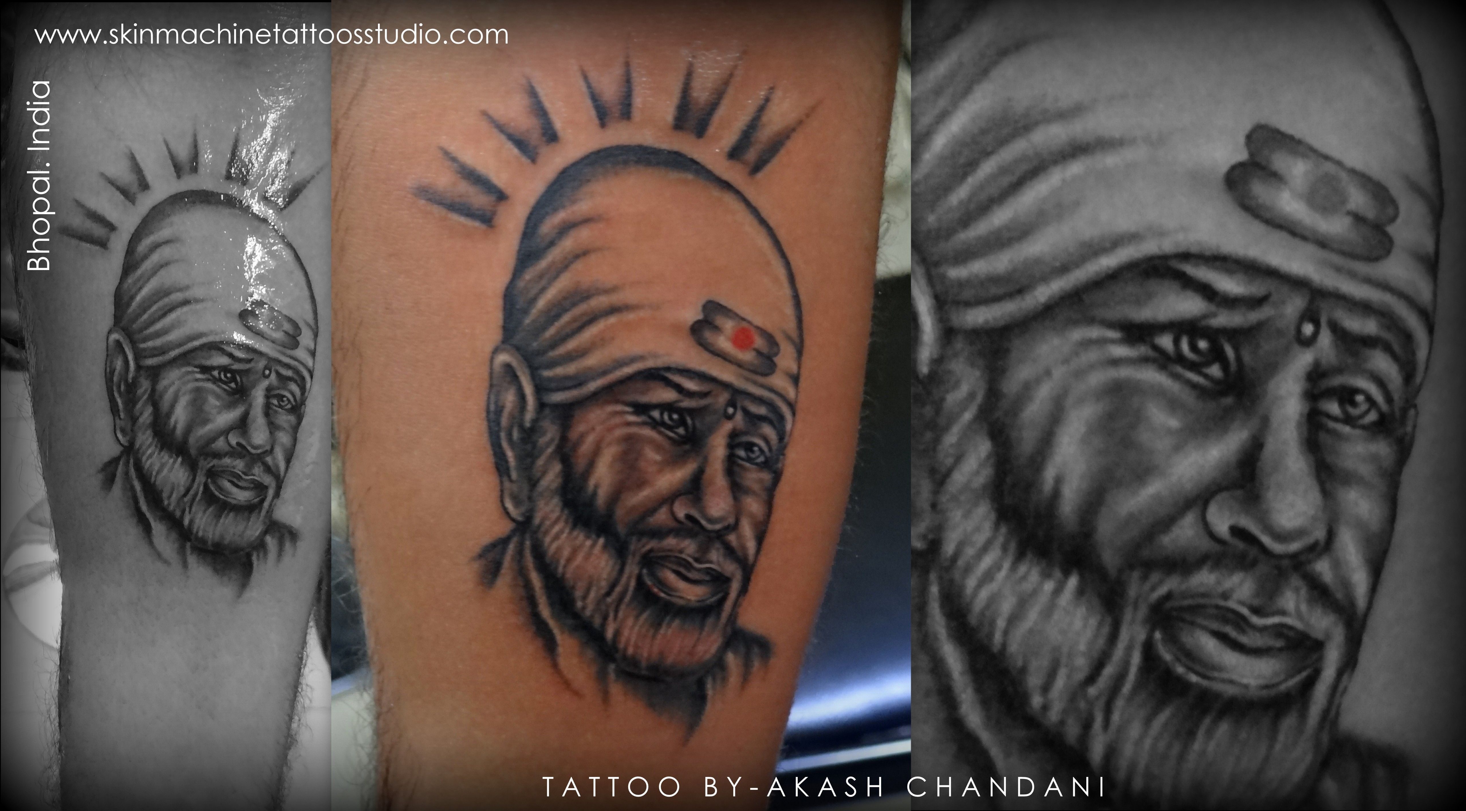 Shree Sai baba. Awesome detailed Tattoo done by Artist