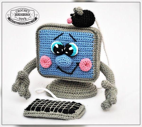 Crochet computer - CrochetToys. Игрушки ручной работы   Spielsachen ...