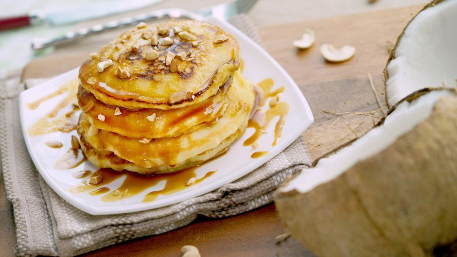 Coconut pancakes with gula melaka drizzle asian food channel coconut pancakes with gula melaka drizzle asian food channel forumfinder Images