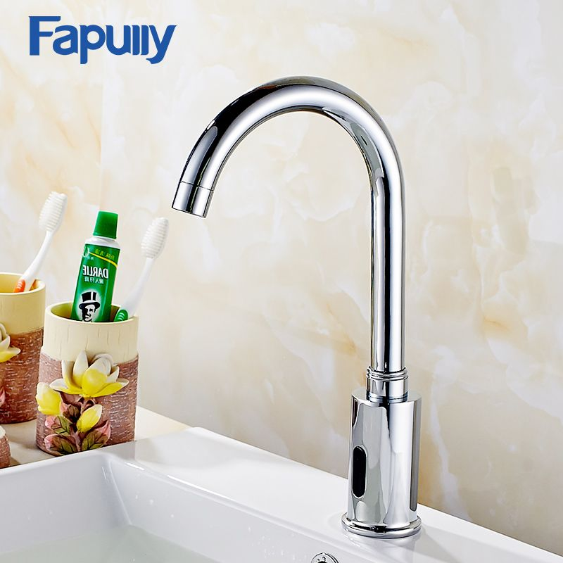 Free Shipping Best Fapully Chrome Bathroom Basin Faucet Infrared Sense