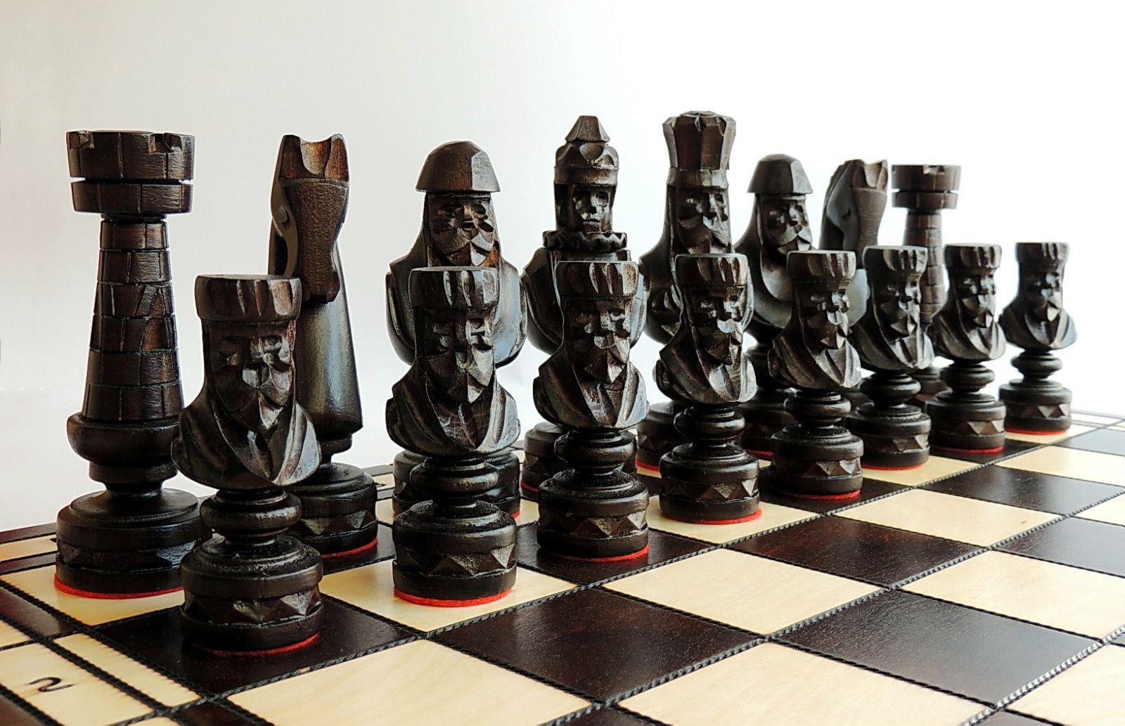 Luxury Cezar Quot Wooden Chess Set 60cm X 60cm Hand Carved