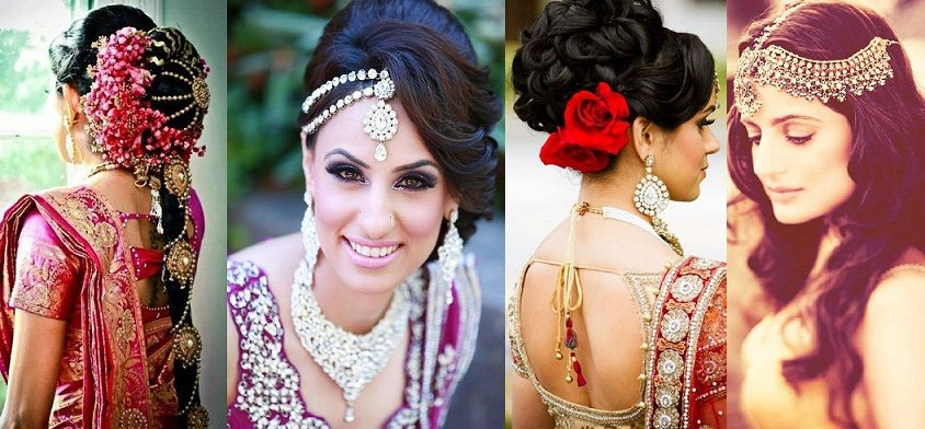 Indian Wedding Hairstyle Trends and ideas - from half down to updos   Indian wedding hairstyles ...