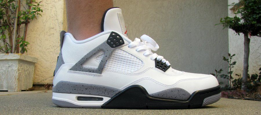 Nike Air Jordan White Cement 4's