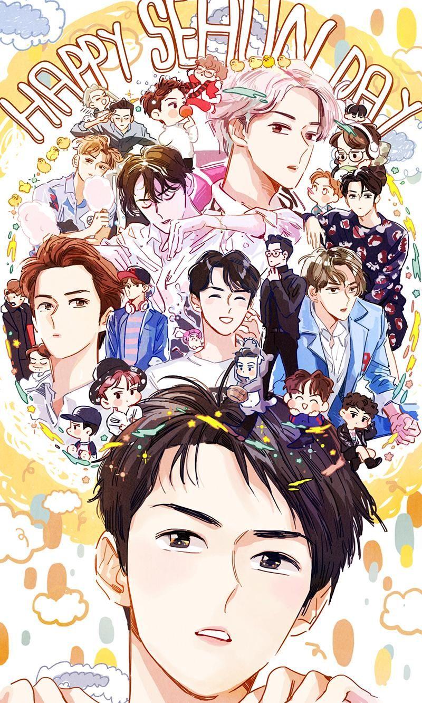 2016 sehun's birthday by langmanpanda on Exo fan art