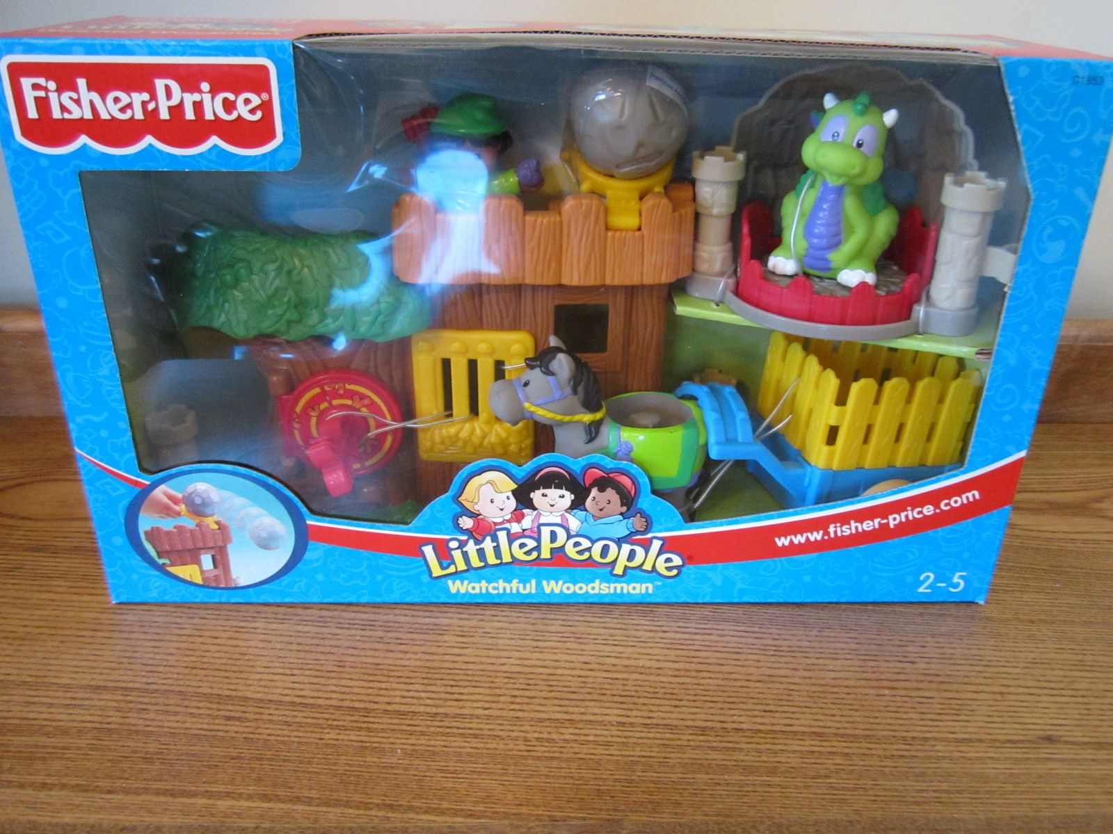 Fisher Little People Box Castle Watchful