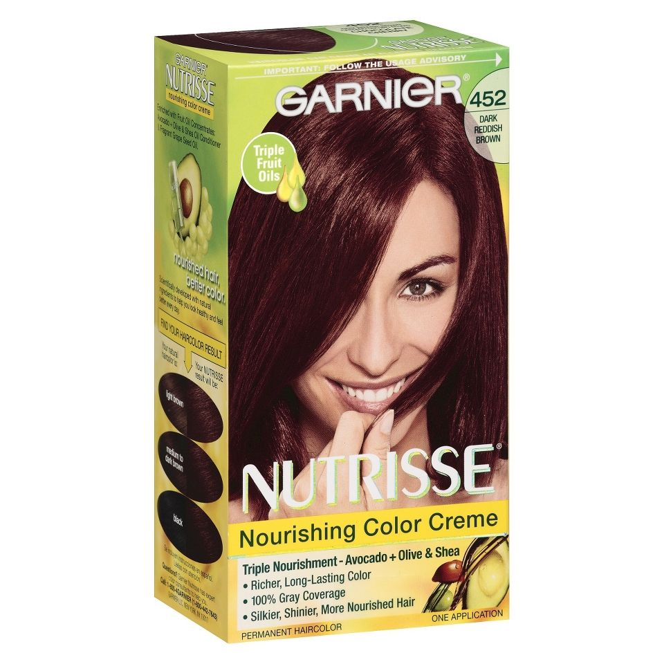ChocolateCherryHairColor  Garnier Nutrisse Hair Color 452 Chocolate Cherr
