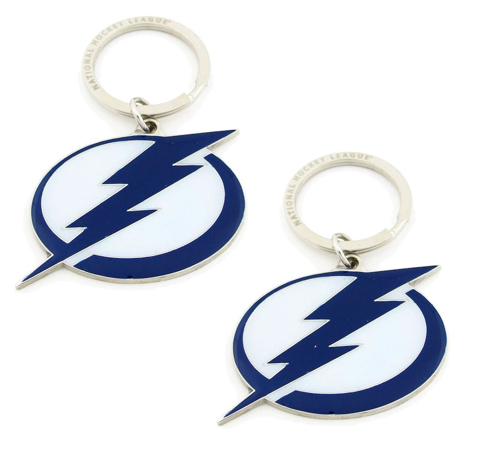 NHL Tampa Bay Lightning Logo Keychain Pair (2 Units)