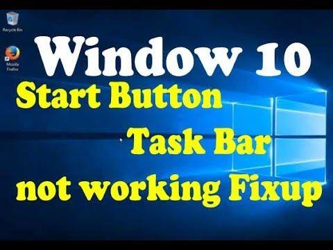 windows 10 start menu cortana and taskbar not working