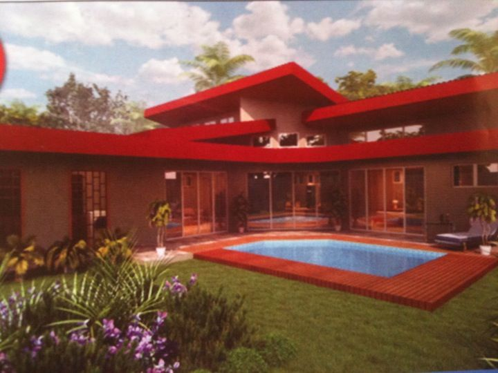Rendering of Villa del Sol house. I think the roof lines are attractive.