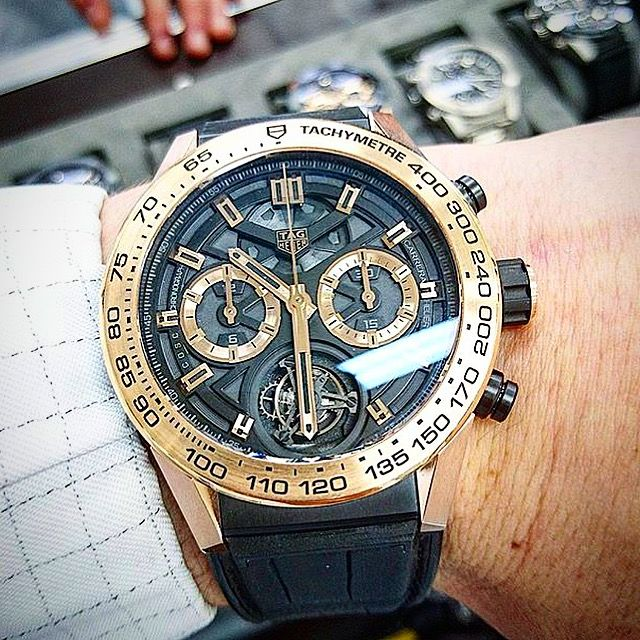 Rose Gold Carrera Heuer 02t By Wiligugu Tagheuer