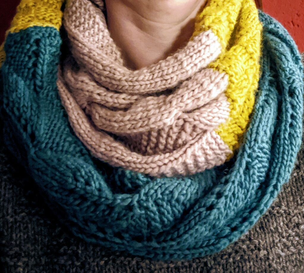 Photo of Three part infinity scarf (pattern) third part | The craft room